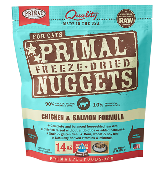 Primal Freeze Dried Cat Food Chicken/Salmon 14oz