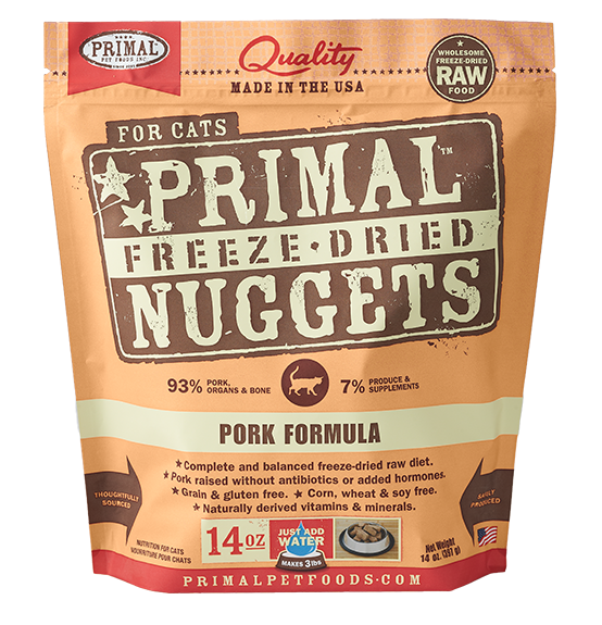 Primal Freeze Dried Cat Food Pork 14oz