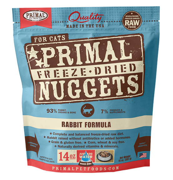 Primal Freeze Dried Cat Food Rabbit 14oz