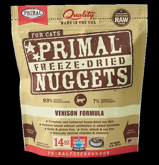Primal Freeze Dried Cat Food Venison 14oz