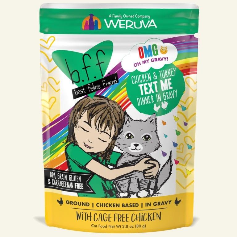 Weruva Cat Food Pouch Grain Free BFF OMG Chicken & Turkey Text Me