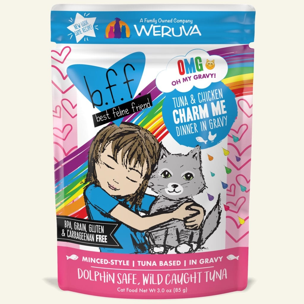 Weruva Cat Food Pouch Grain Free BFF OMG Tuna & Chicken Charm Me