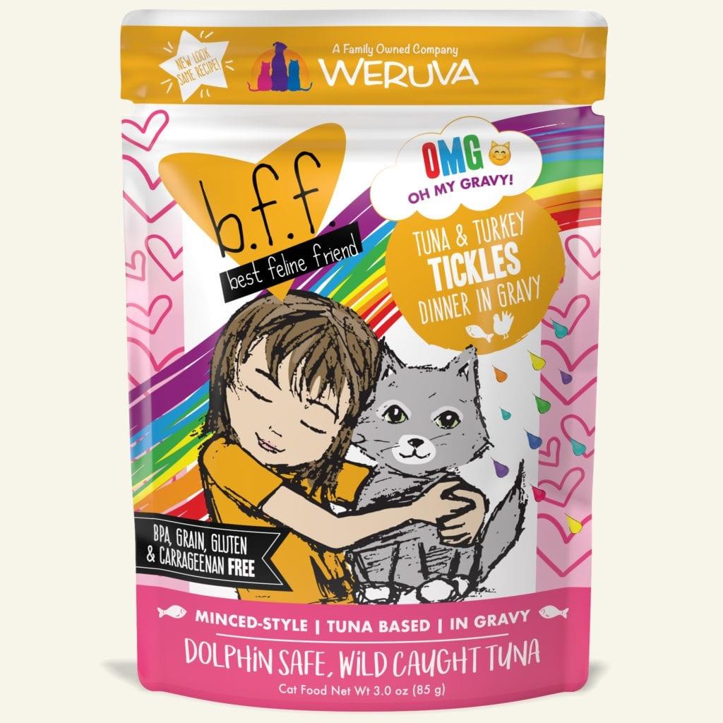 Weruva Cat Food Pouch Grain Free BFF OMG Tuna & Turkey Tickles