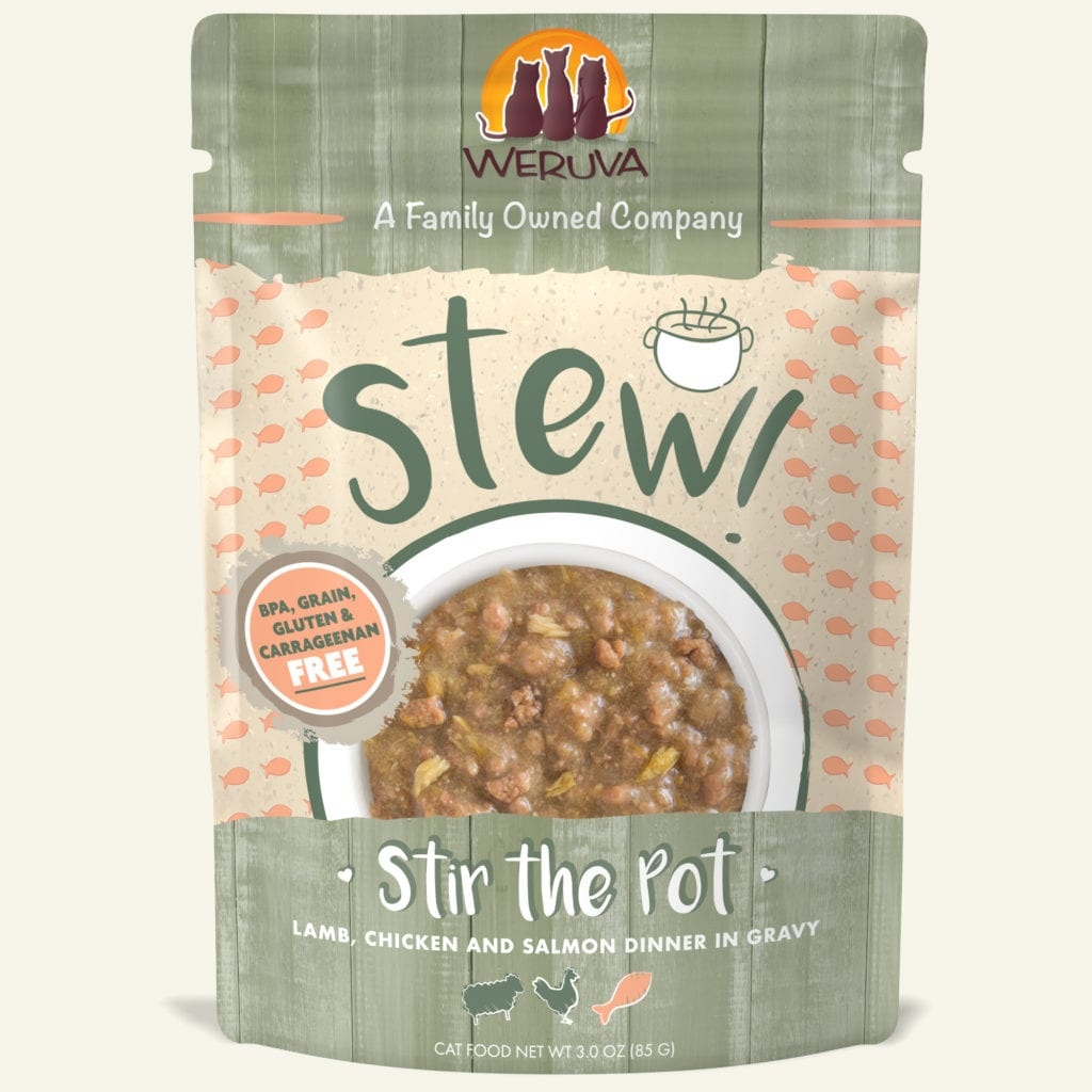 Weruva Cat Food Pouch Grain Free Stew Stir The Pot Lamb, Chicken & Salmon