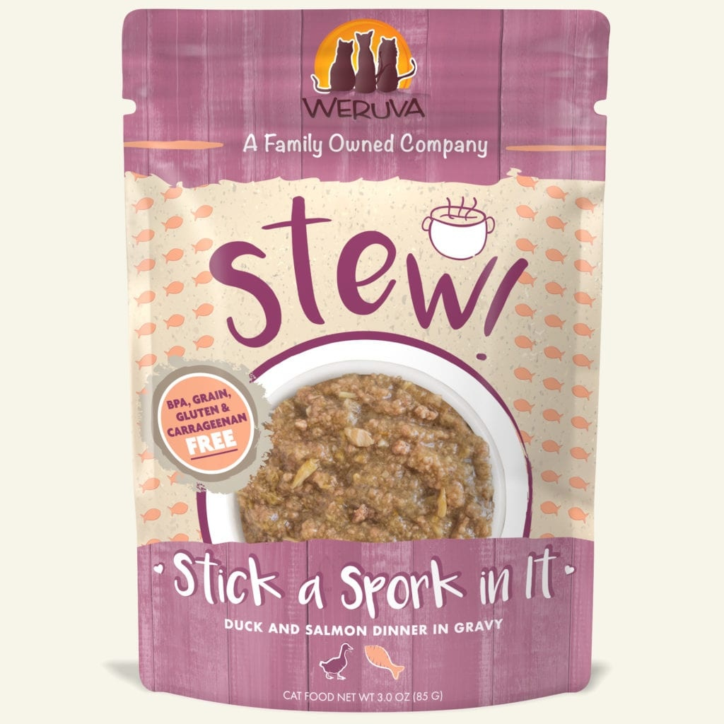 Weruva Cat Food Pouch Grain Free Stew Stick A Spork In It Duck & Salmon
