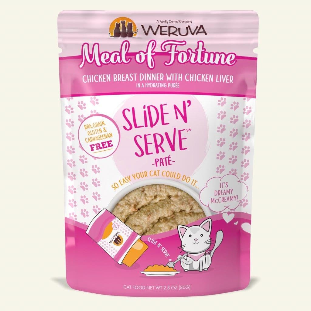 Weruva Cat Food Pouch Grain Free Slide Serve Meal Of Fortune Chicken Breast & Chicken Liver