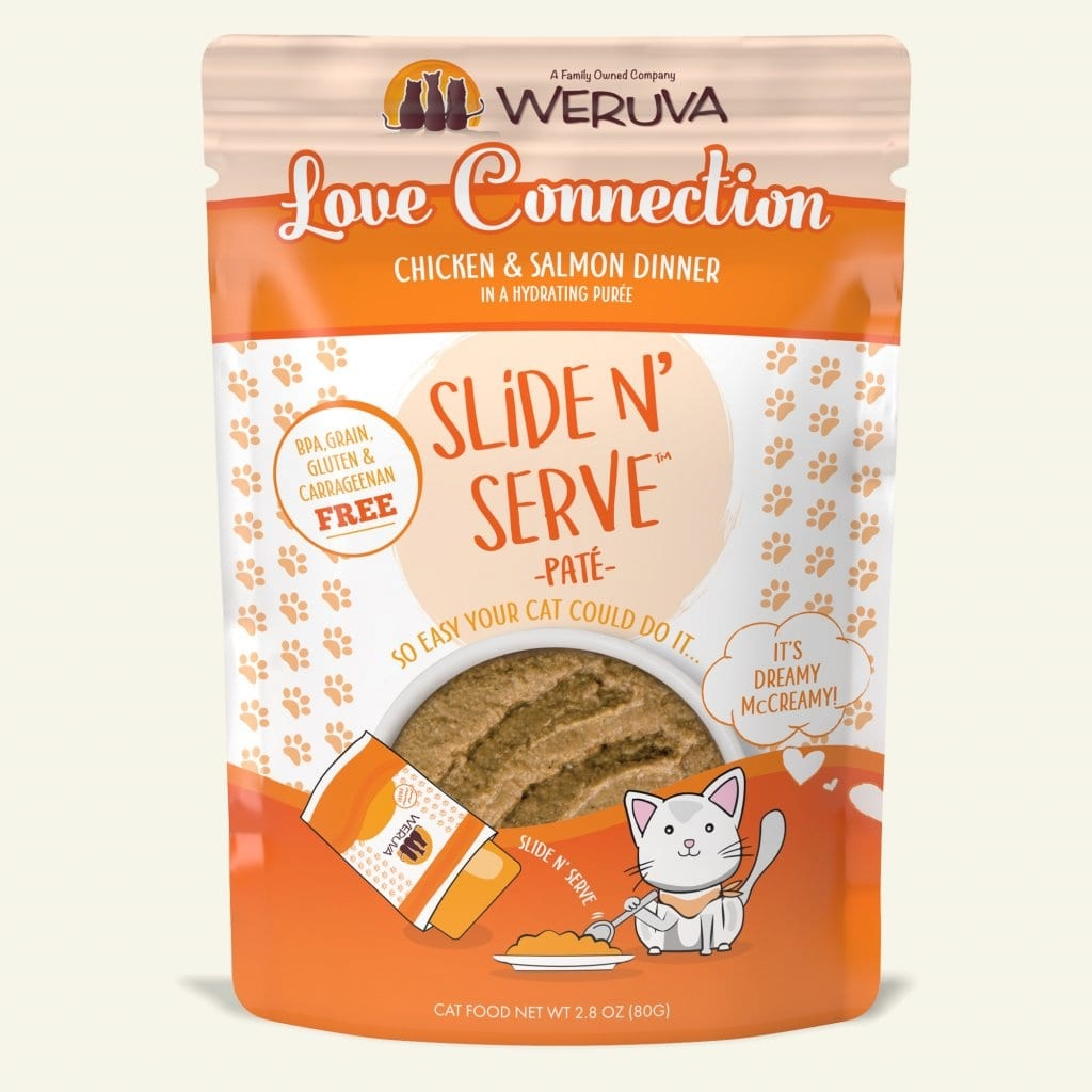 Weruva Cat Food Pouch Grain Free Slide Serve Love Connection Chicken & Salmon