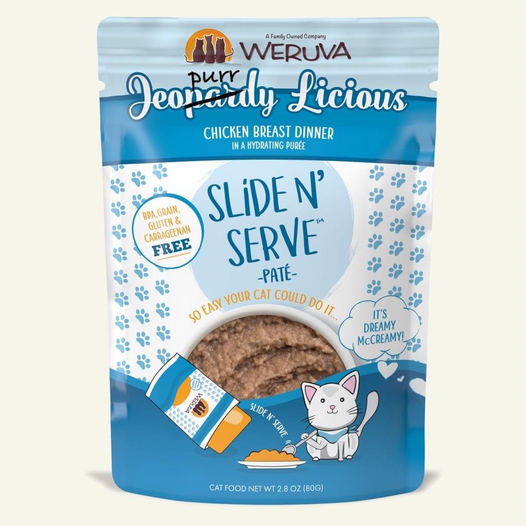 Weruva Cat Food Pouch Grain Free Slide Serve Jeopurdy Licious Chicken Breast