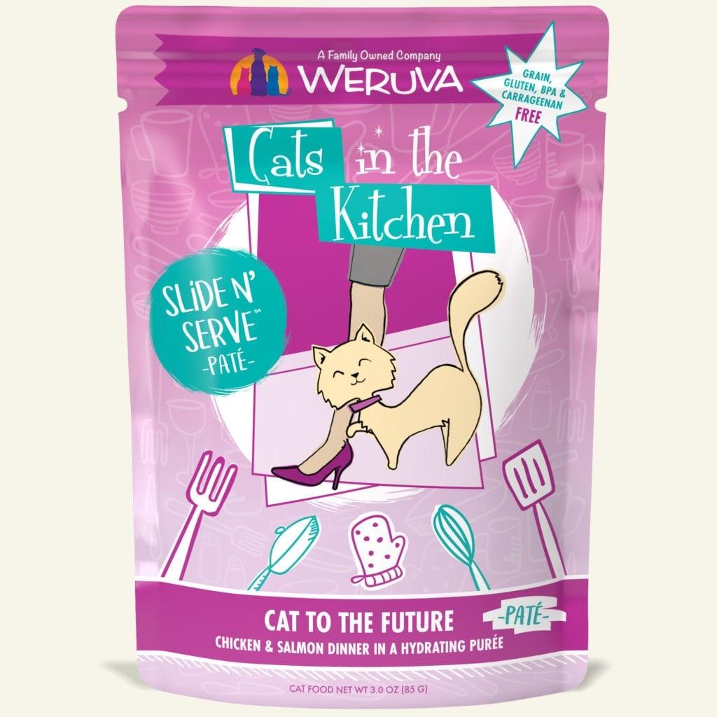 Weruva Cat Food Pouch Grain Free Slide Serve Cat To The Future Chicken & Salmon