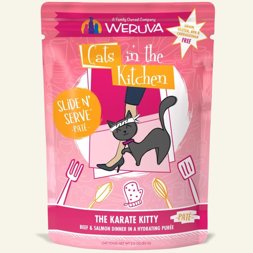 Weruva Cat Food Pouch Grain Free Slide Serve The Karate Kitty Beef & Salmon