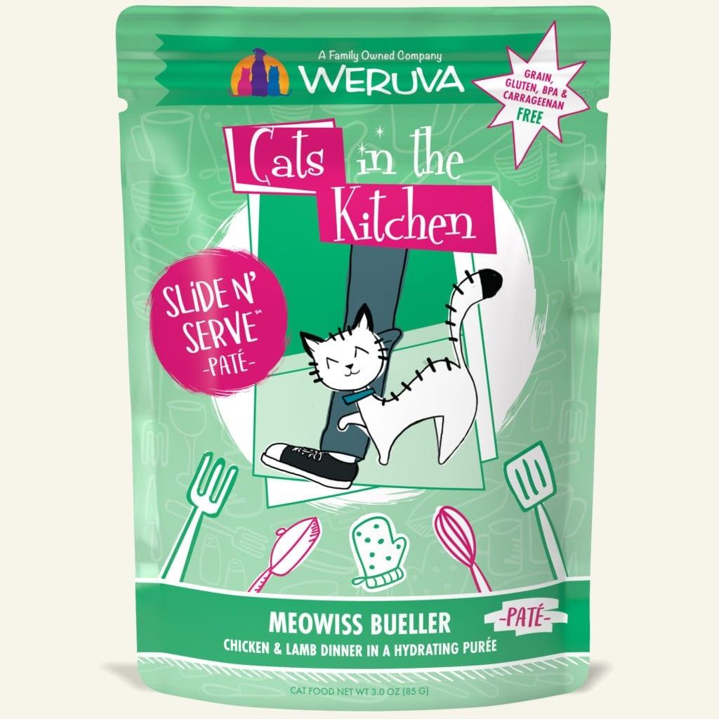 Weruva Cat Food Pouch Grain Free Slide Serve Meowiss Bueller Chicken & Lamb