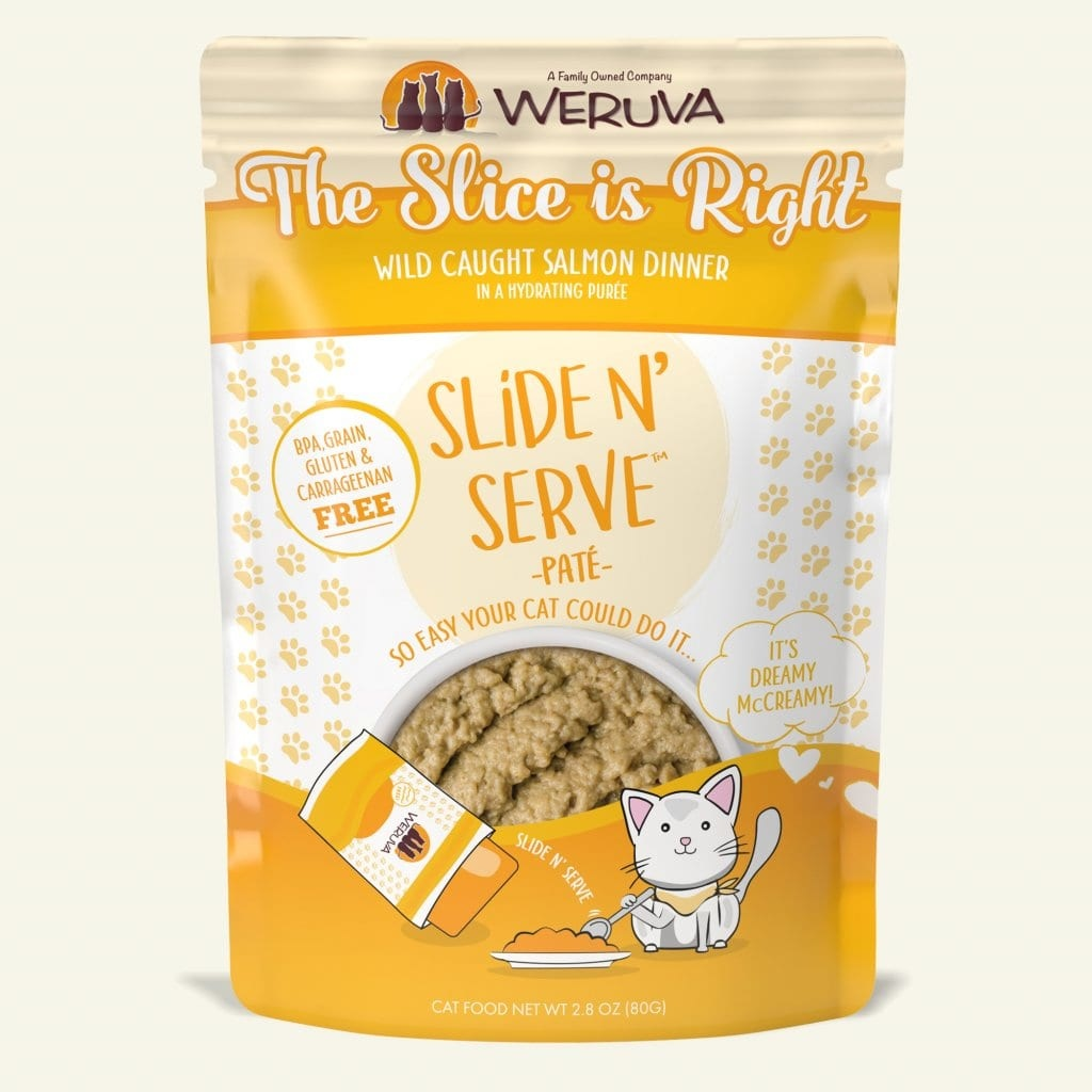 Weruva Cat Food Pouch Grain Free Slide Serve The Slice Is Right Salmon