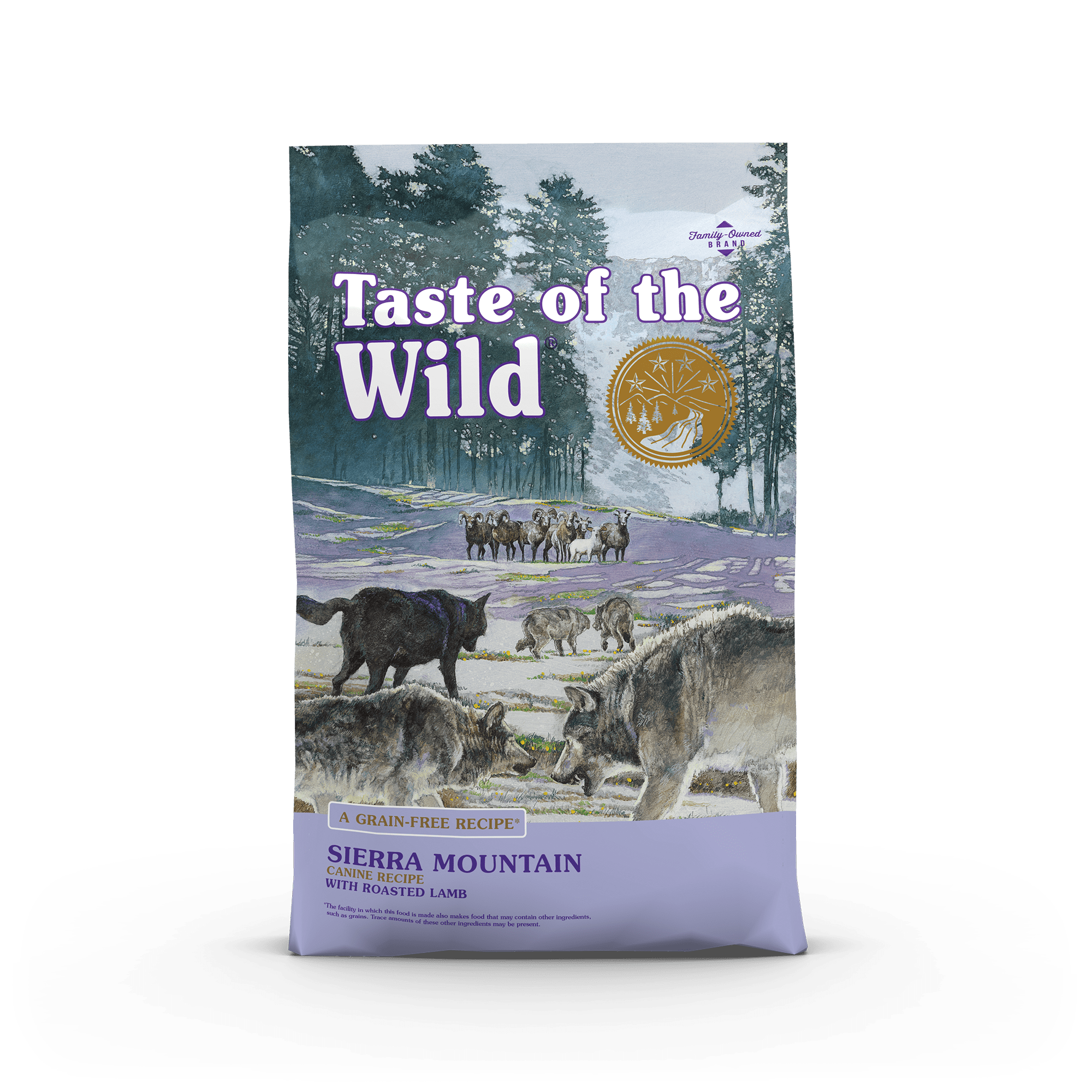 Taste Of The Wild Kibble Grain Free Dog Food Sierra Mountain