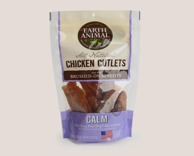 Earth Animal Treat Cutlets Dog Chicken Calm Anxiety