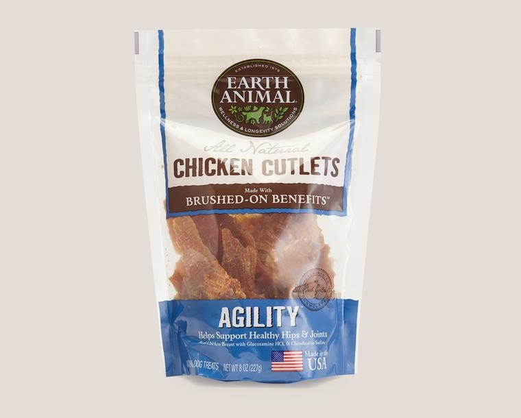 Earth Animal Treat Cutlets Dog Chicken Agility Joints
