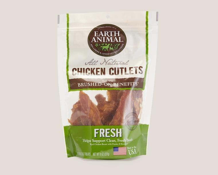 Earth Animal Treat Cutlets Dog Chicken Fresh Breath