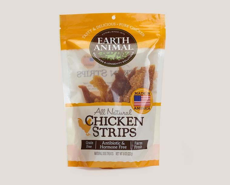 Earth Animal Treat Strips Dog Chicken