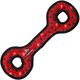 VIP Tuffy Dog Toy Ultimate Tug O War Red