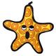 VIP Tuffy Dog Toy Star Fish