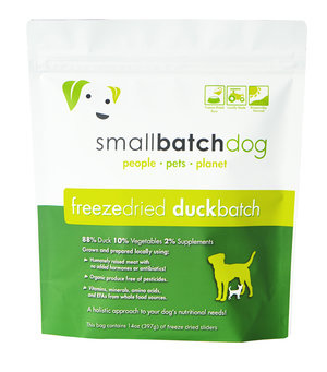 SmallBatch Smallbatch Freeze Dried Dog Food Sliders Duck