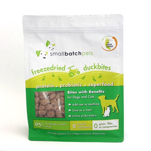 SmallBatch Smallbatch Freeze Dried Dog Food Smallbites Duck