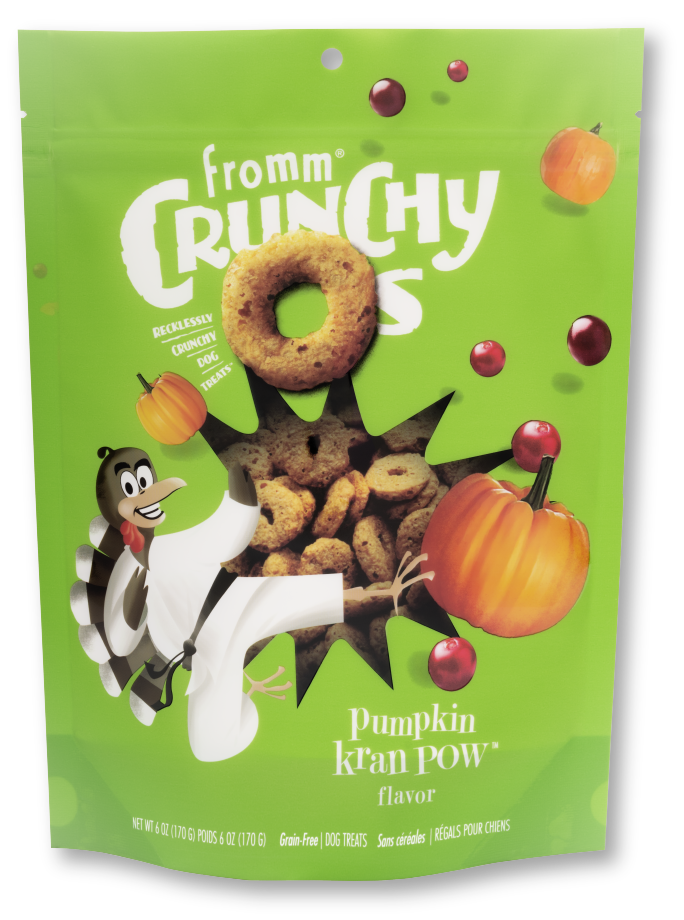Fromm Fromm Dog Treat Biscuit Crunchy O's Pumpkin Kran Pow