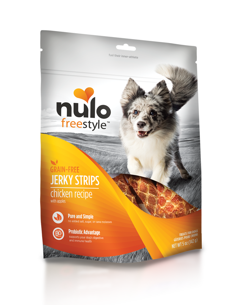 Nulo Nulo Jerky Treat Grain Free Dog Chicken & Apple