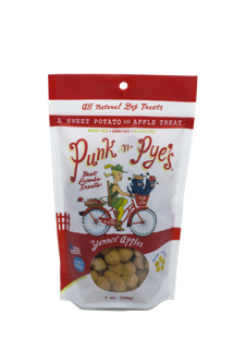 Punk N Pye's Biscuit Treat Dog Yammin Apples Lil Bites
