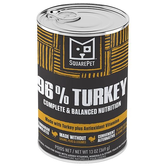 Square Pet SquarePet Dog Food Can Pate 96% Turkey