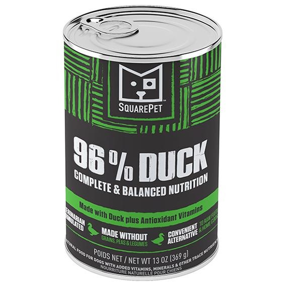 Square Pet SquarePet Dog Food Can Pate 96% Duck