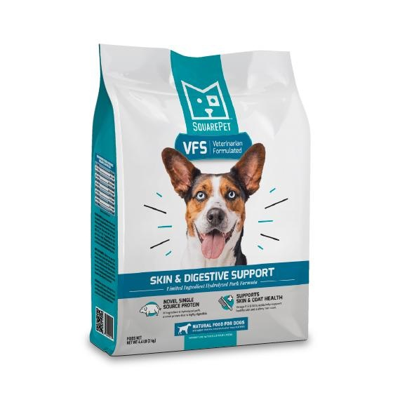 Square Pet SquarePet Kibble With Grain Dog Food VFS Skin & Digestive Support