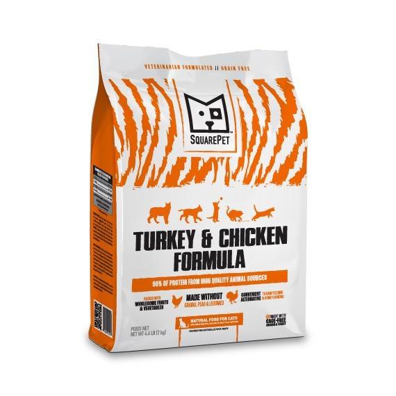 Square Pet SquarePet Kibble Grain Free Cat Food Turkey & Chicken
