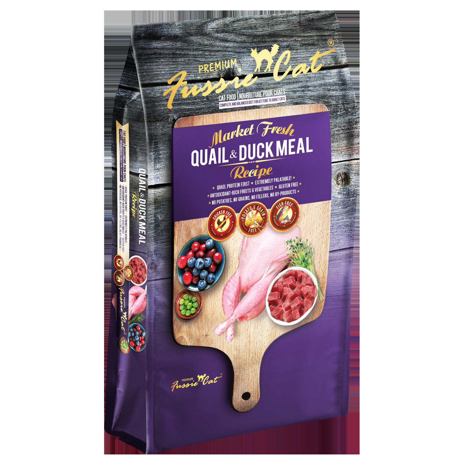 Fussie Cat Kibble Grain Free Cat Food Quail & Duck