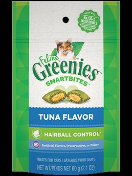Greenies Treat SmartBites Feline Hairball Tuna