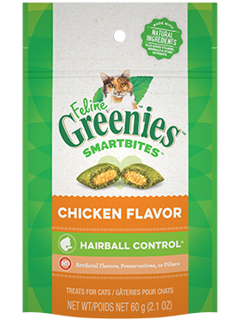 Greenies Treat SmartBites Feline Hairball Chicken