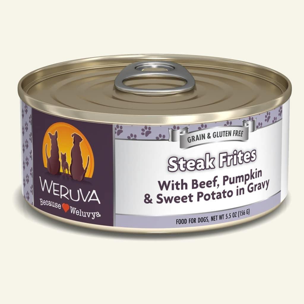 Weruva Dog Food Can Grain Free Steak Frites