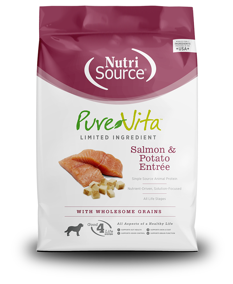 KLN (Pure Vita & NutriSource) KLN Pure Vita Kibble With Grain Dog Food Salmon & Potato