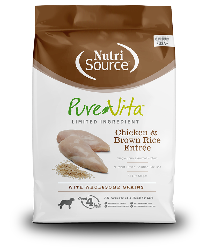 KLN (Pure Vita & NutriSource) KLN Pure Vita Kibble With Grain Dog Food Chicken & Rice