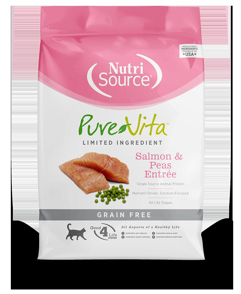 KLN (Pure Vita & NutriSource) KLN Pure Vita Kibble Grain Free Cat Food Salmon