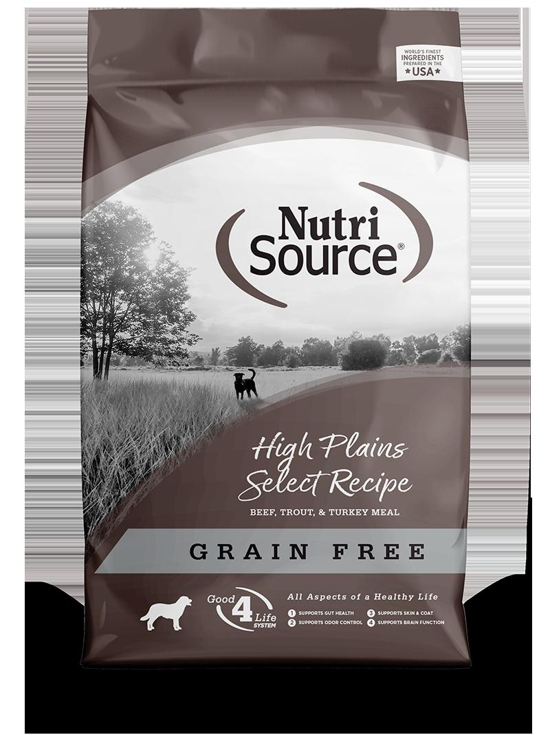 KLN (Pure Vita & NutriSource) KLN Nutrisource Select Dog Kibble Grain Free Dog Food High Plains