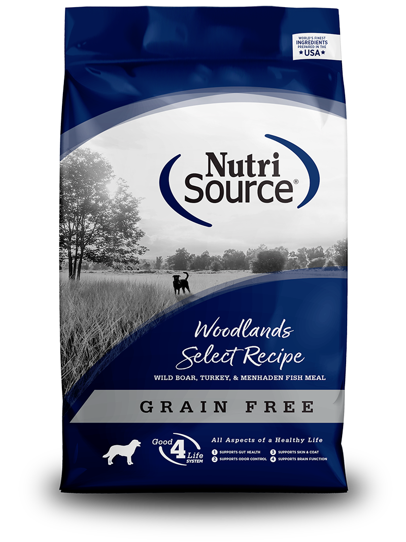 KLN (Pure Vita & NutriSource) KLN Nutrisource Select Dog Kibble Grain Free Dog Food Woodlands
