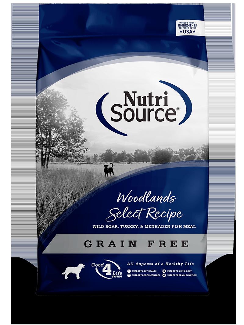 KLN (Pure Vita & NutriSource) KLN Nutrisource Select Kibble Grain Free Dog Food Woodlands