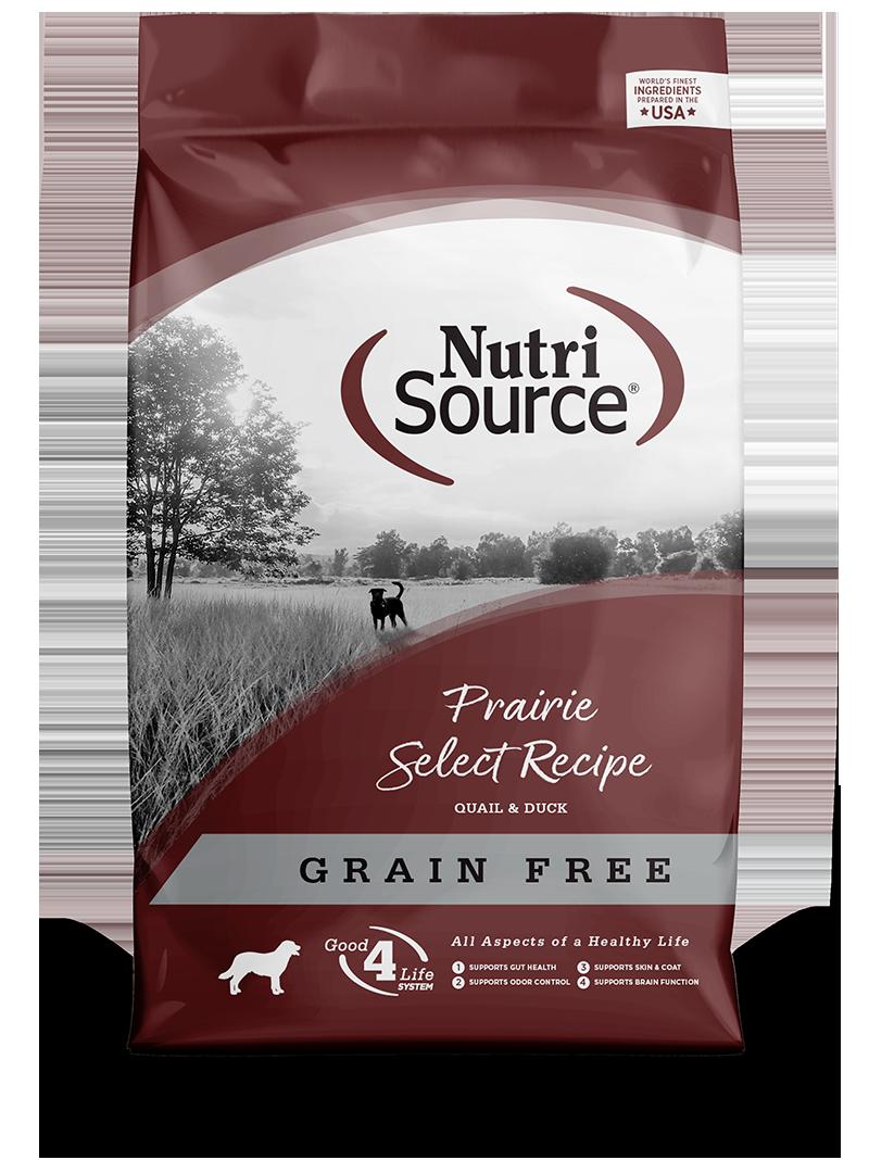 KLN (Pure Vita & NutriSource) KLN Nutrisource Select Dog Kibble Grain Free Dog Food Prairie