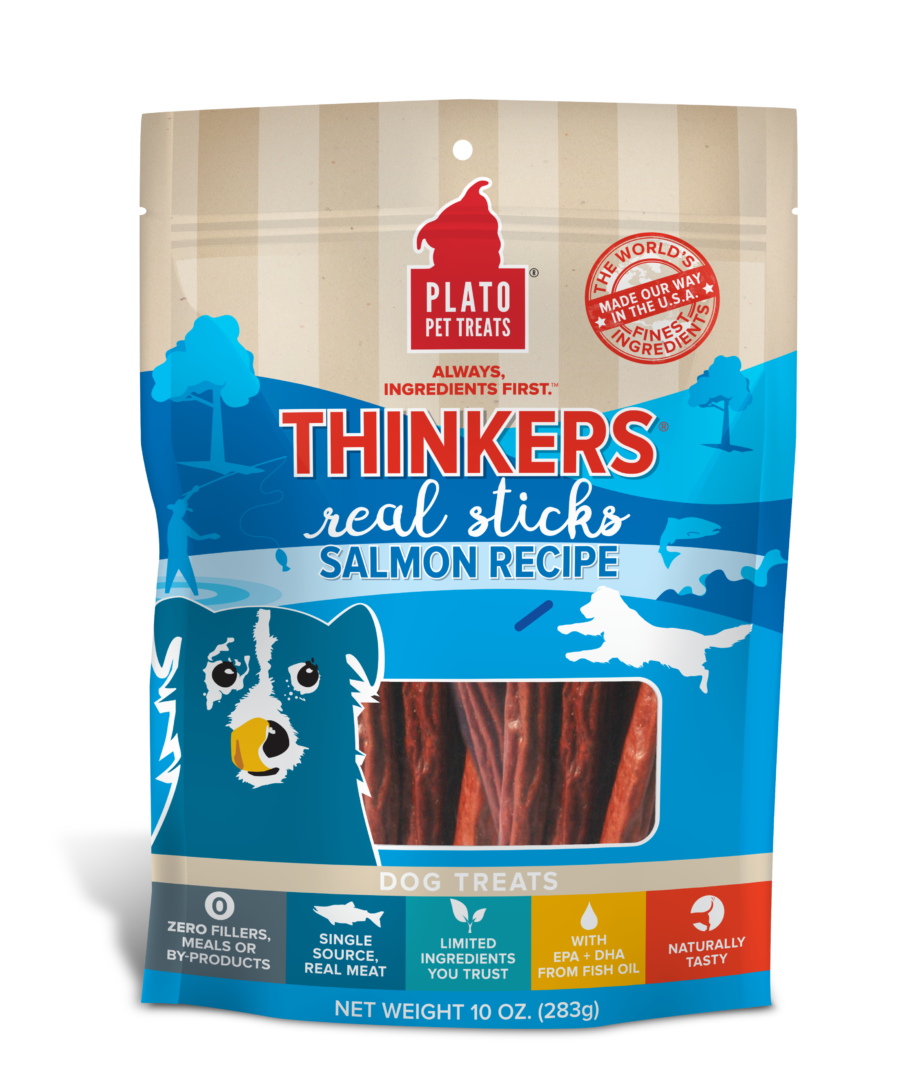 Plato Treat Sticks Dog Thinkers Salmon