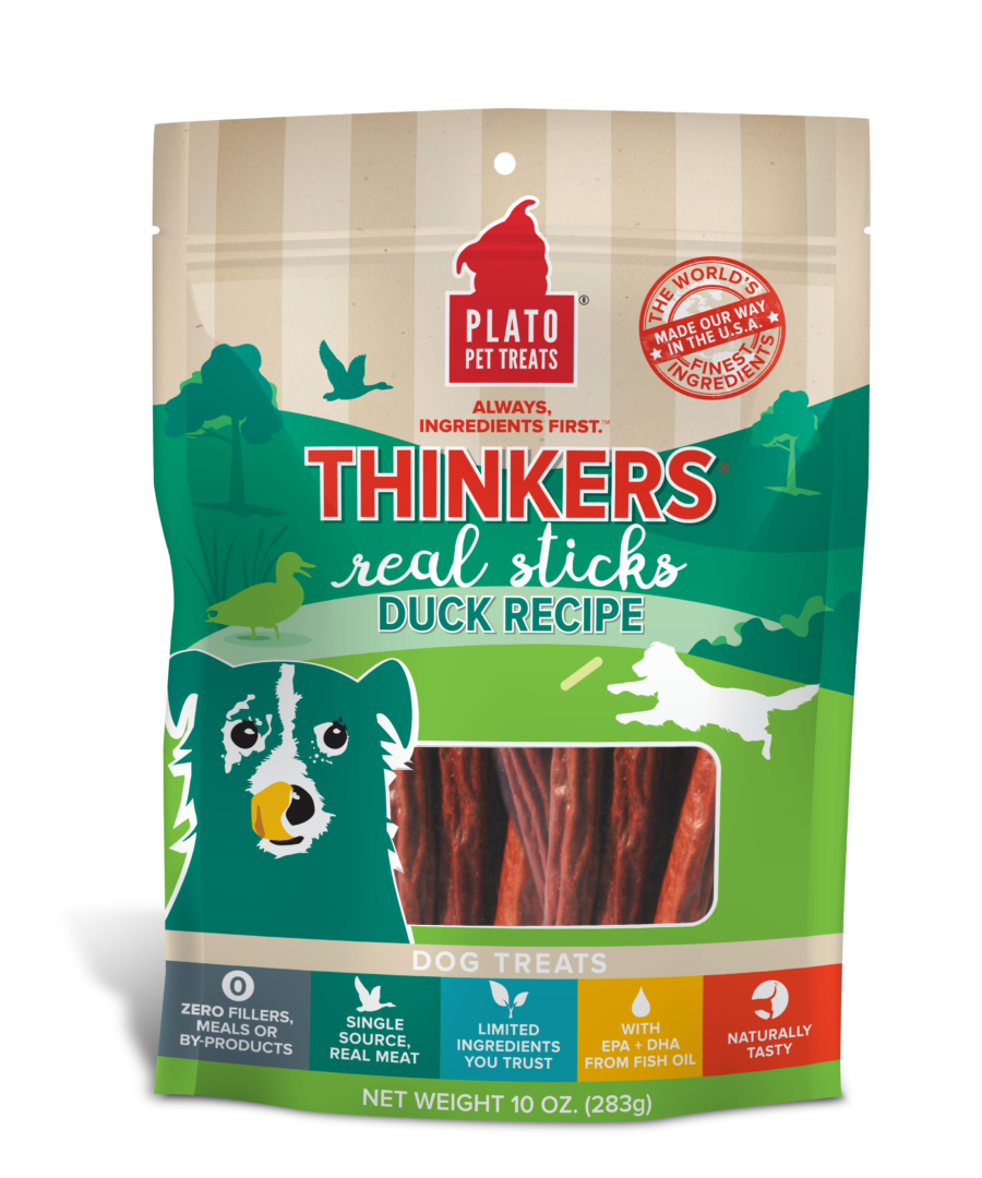 Plato Treat Sticks Dog Thinkers Duck