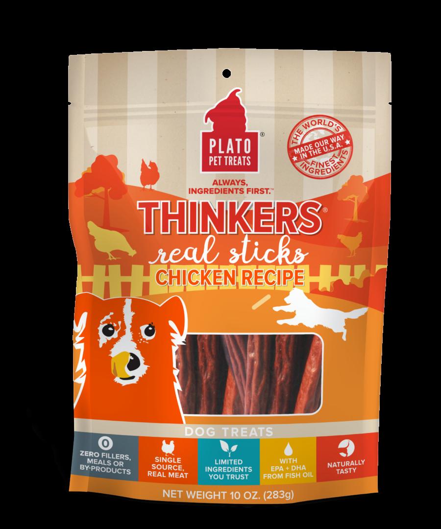 Plato Treat Sticks Dog Thinkers Chicken