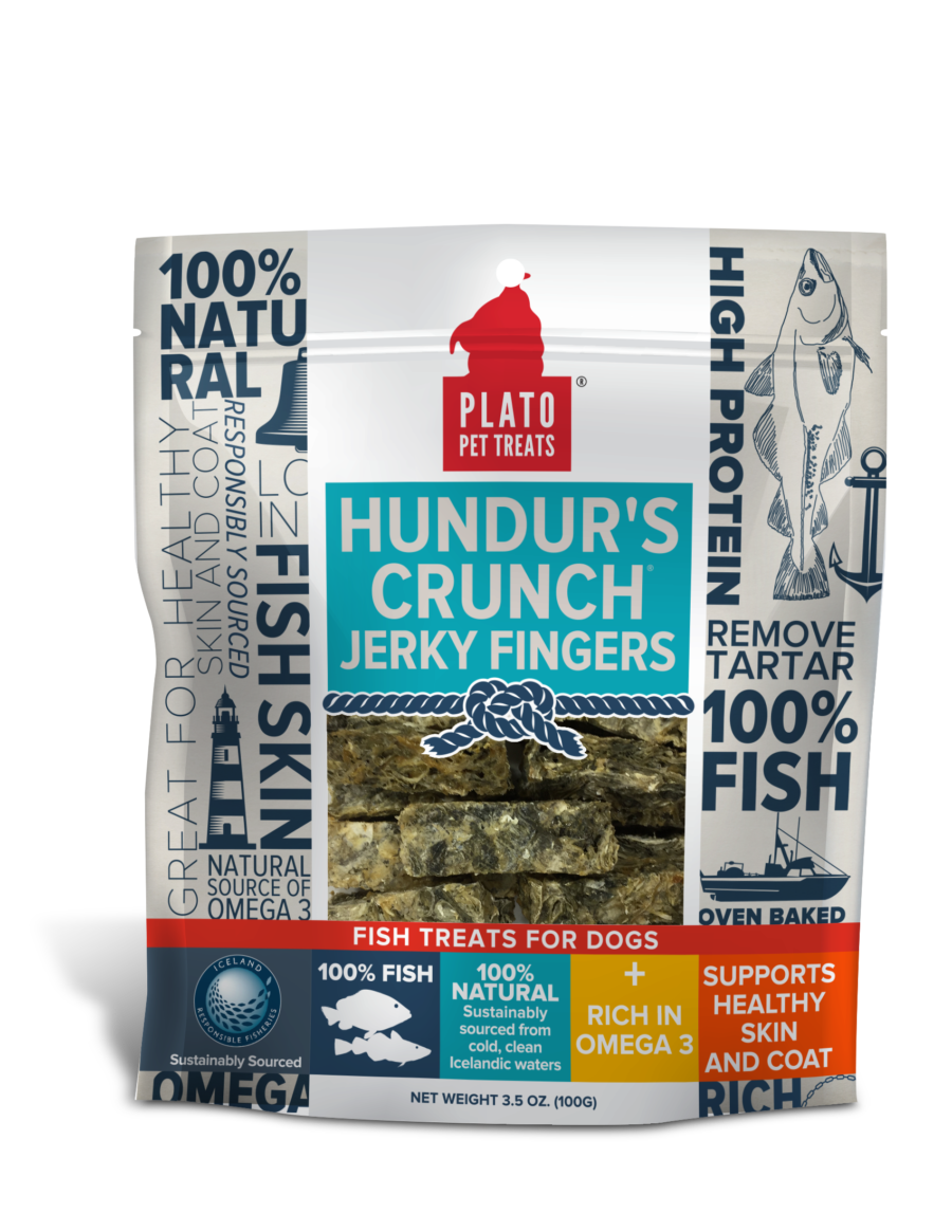 Plato Treat Hundur's Crunch Dog Jerky Fingers