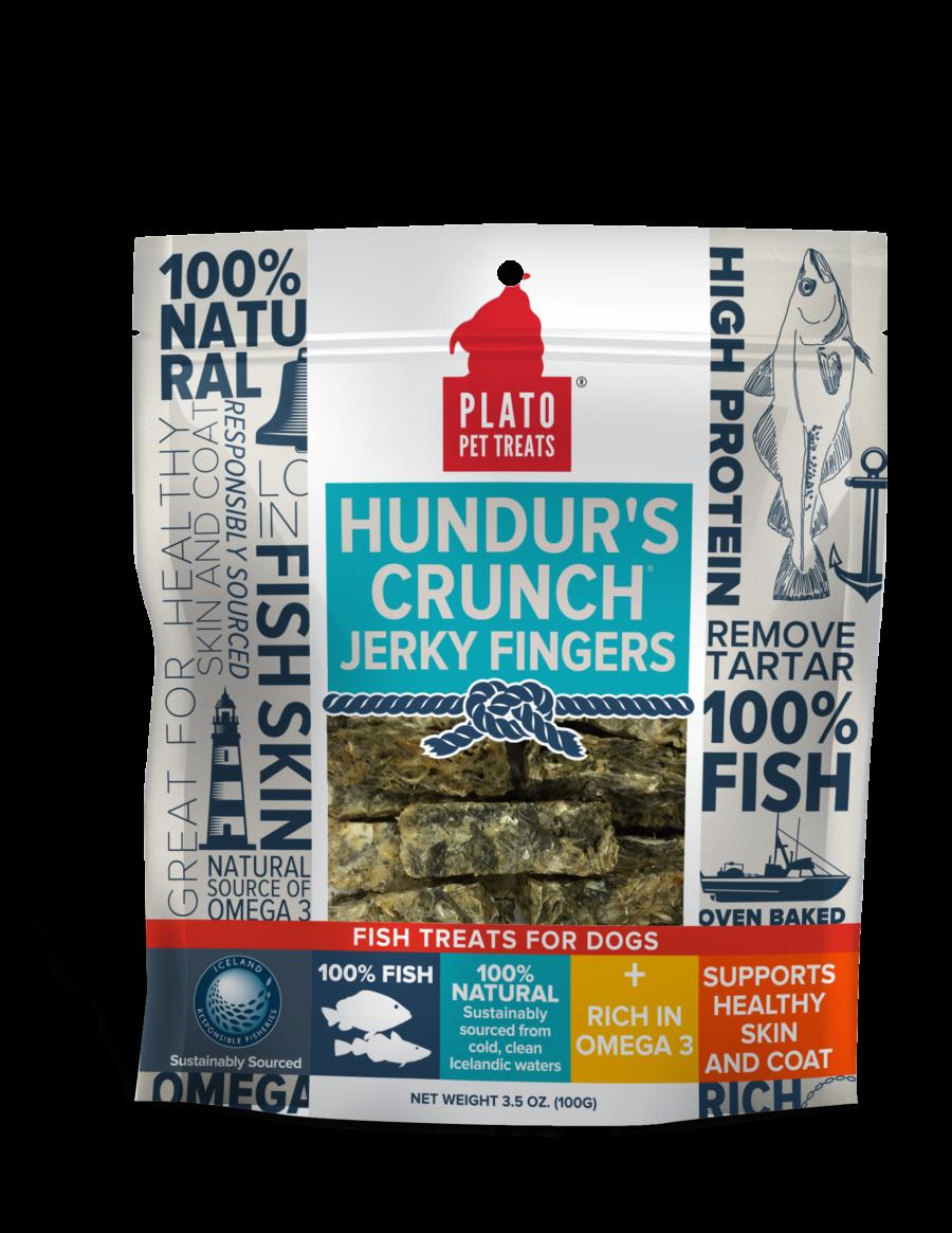 Plato Treat Hundur's Crunch Dog Jerky Fingers