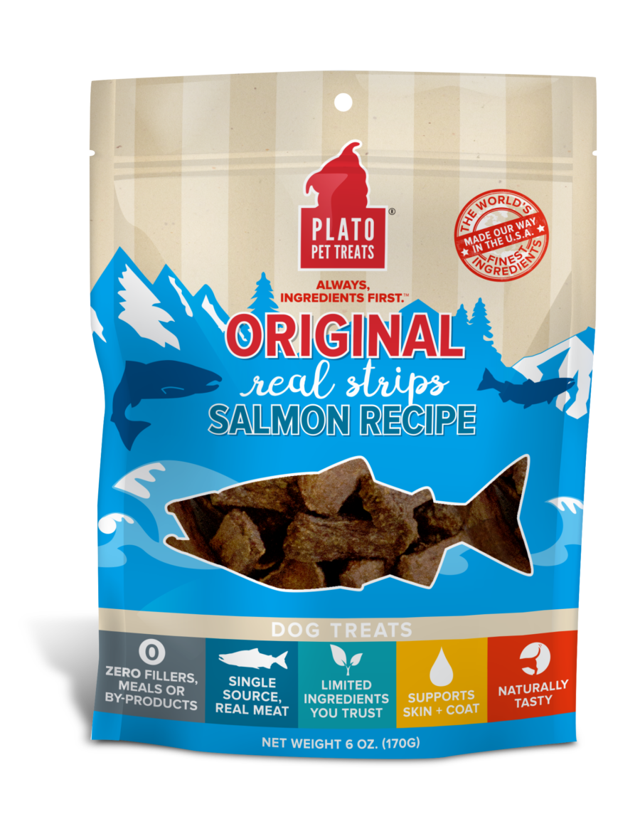 Plato Treat Original Strips Dog Salmon