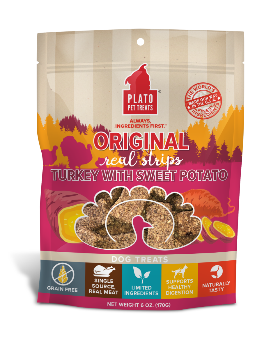 Plato Treat Original Strips Dog (EOS) Turkey & Sweet Potato